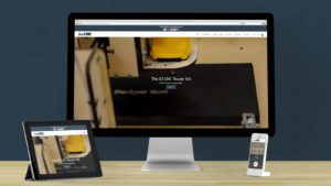 Bob's CNC Shopify store on mobile and desktop.