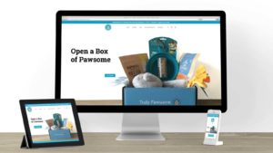 Truly Pawsome's Shopify store on mobile and desktop.